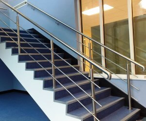 Balustrade inox cu 3 fire scari interioare